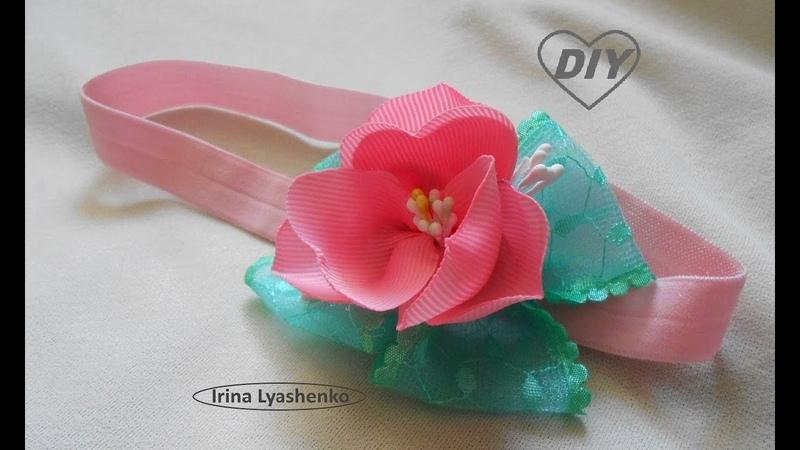 Цветок на повязку для девочки Идея простого цветка МК DIY Flower idea РАР Idea de flor 236