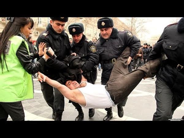 TƏCİLİŞəhidin övladını Prezident Aparatının önündə polislər həbs etdi