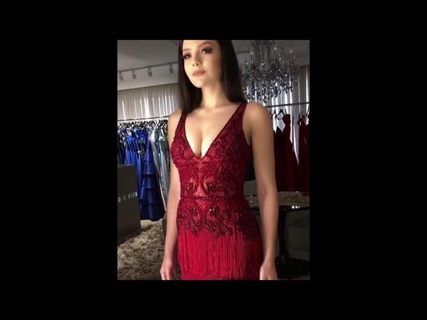 Vestido vermelho para baile de formatura