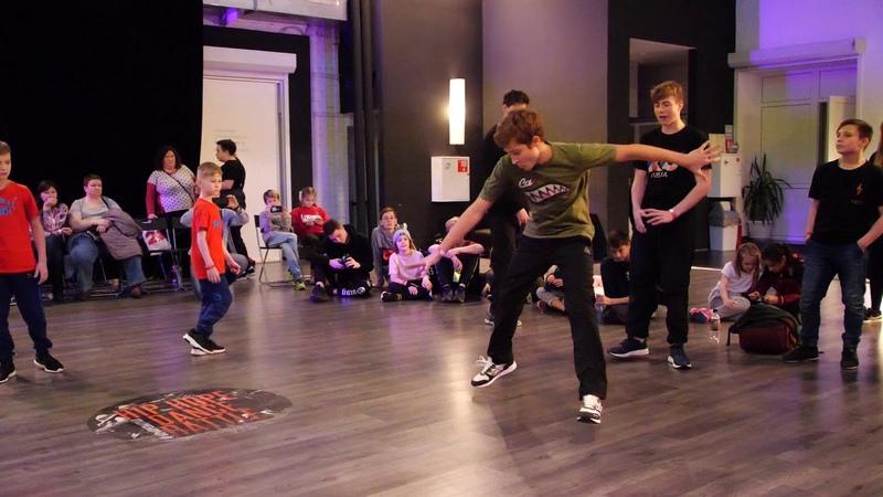 полуфинал 2x2 bboy Iron Lukas vs Power Jack RusRock vs ?? - Hip Hope Dance Battle 2018