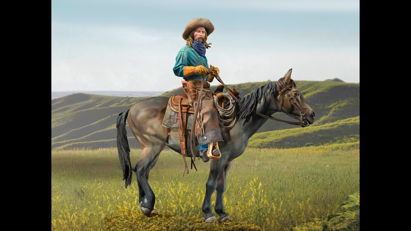 STEP BY STEP TRUE COWBOY (Chaps) IN ACRYLICS BY THE MASTER PAINTER CARLOS ROYO, CODE: S8-F60
