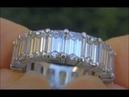 STUNNING VS 7 00 Carat Diamond Eternity Ring Solid Platinum 19 BIG SIZE Emerald Cut Diamonds