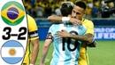 🔥 Бразилия - Аргентина 3-2 - Обзор Контрольных Матчей 2014/2018 HD 🔥