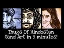 Thugs Of Hindostan Sand Art Amitabh Bachchan Aamir Khan Katrina Kaif Ajay Atul Prasad Sand