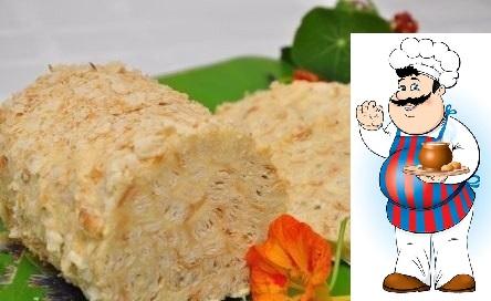 ОБАЛДЕННЫЙ ТОРТ Слоеное полено Оригинальная вариация на тему классического торта Наполеон. Ингредиенты: 500 гр бездрожжевого слоеного теста, 350 гр сливочного масла, 250 гр сгущенного