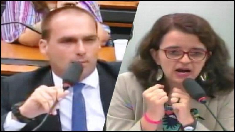 ➜ Eduardo Bolsonaro desafia esquerdista a sentir na pele o que é iитσlєяâиciα de verdade