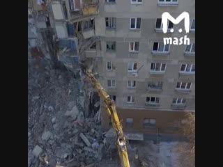 Видео спасательных работ в Магнитогорске с высоты