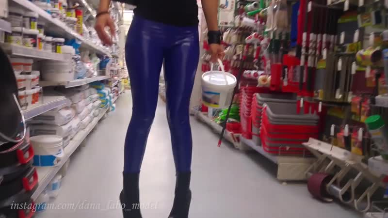 DANA LABO brico work purchases in pvc leggings and boots with very high heels.1080p_1