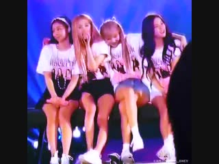 look at lisa trying to fit all the members in her arms