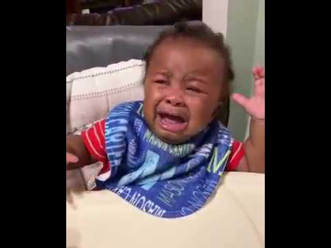 Baby starts crying when he sees his father with shaved head