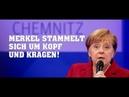 PEINLICH Chemnitz MERKEL stammelt sich um Kopf und Kragen
