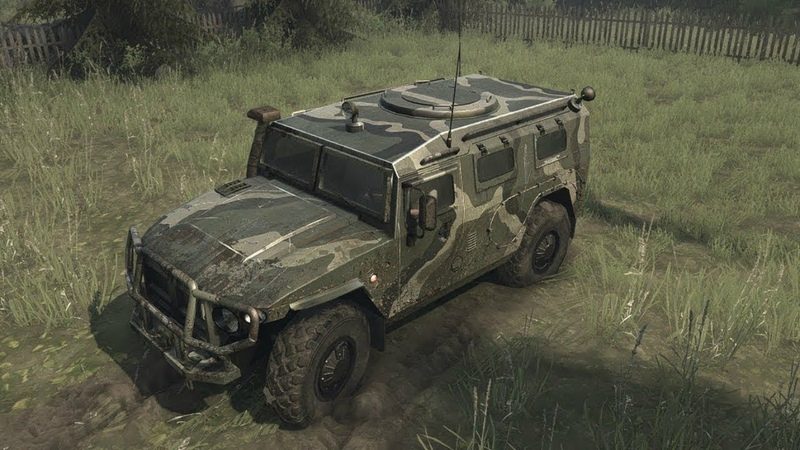Russian GAZ Tigr (Tiger) 4x4 in AWESOME OFF ROAD SIMULATOR Spintires Mudrunner