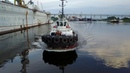 Работа буксира Тайфун Санкт-Петербург аэросъемка