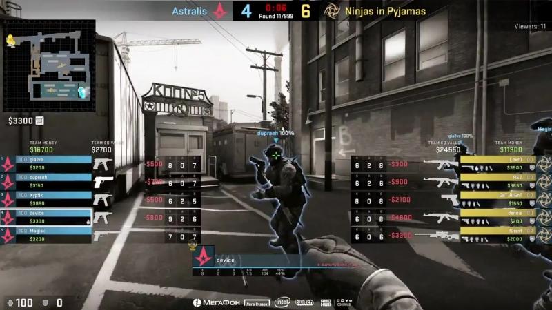 [CSRuHub] Astralis vs NiP - ESL Pro League S8 EU - bo1 - de_train [CrystalMay, Anishared]