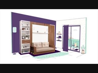 Шкаф кровать диван - замена мебели в спальне и гостиной