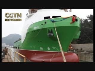 В Китае спущен на воду еще один корабль - первое судно обеспечения