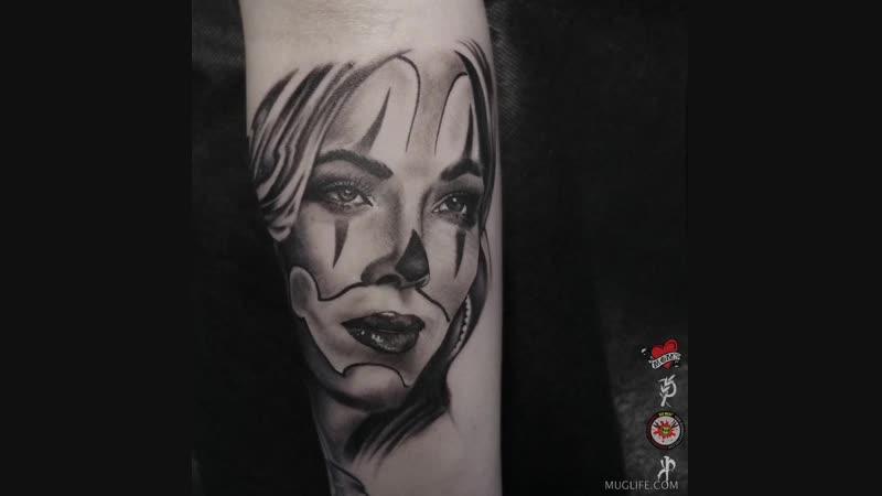 Ну очень реалистичное 3D tattoo xD