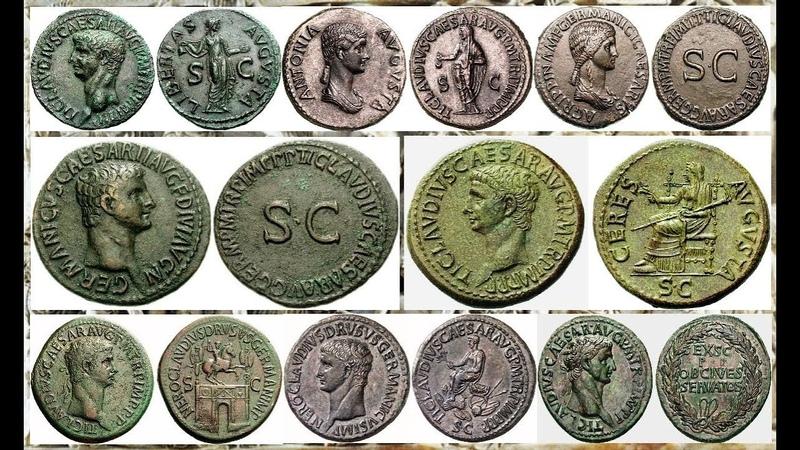 Монеты Римской Империи, Клавдий, Часть 7, Claudius, Coins of the Roman Empire