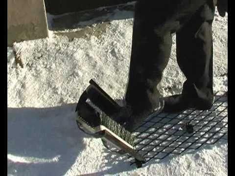 Устройство очистки обуви от грязи Барсук-клин