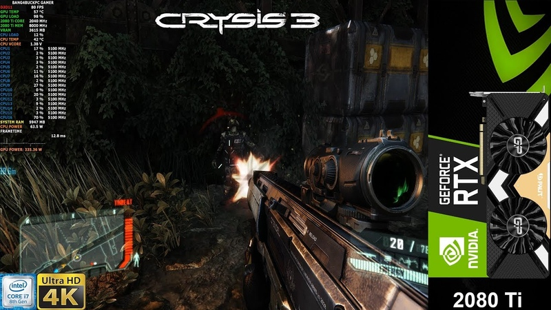 Crysis 3 Very High Settings | RTX 2080 Ti | i9 9900K 5.1GHz