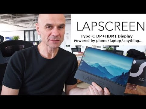 LAPSCREEN with faytech, 12.5 Type-C Display, runs off DP phone/laptop/anything
