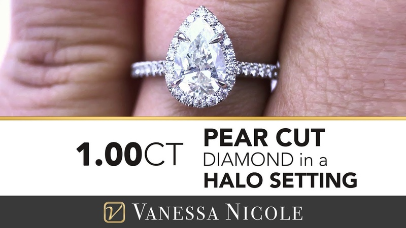 PEAR CUT DIAMOND ENGAGEMENT RING - 1 Carat Pear Cut Diamond Ring for Emily