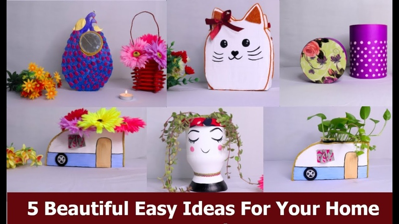5 Beautiful Easy Ideas For Your Home Decoration || Home Decor By Aloha Crafts