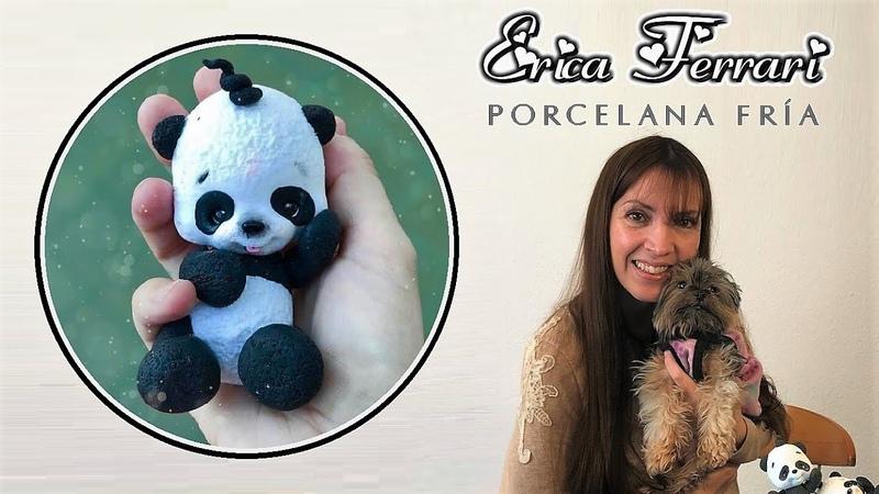 🐶 Erica Ferrari Porcelana Fría Oso Panda Souvenir Clase Gratis DIY Tutorial Fácil