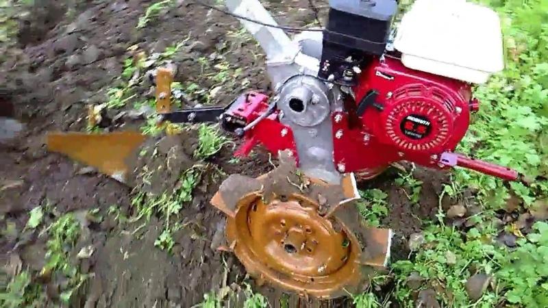 Самодельный плуг и грунтозацепы.Мотоблок Пахарь .Тест. ч 2.Homemade plow and lugs.