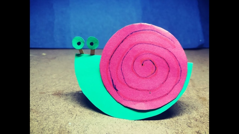 Craft paper Snail for kids | Easy Paper Snail |