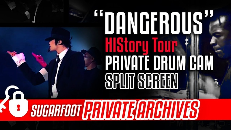 Dangerous Sugarfoot DRUM CAM split screen - HIStory Tour