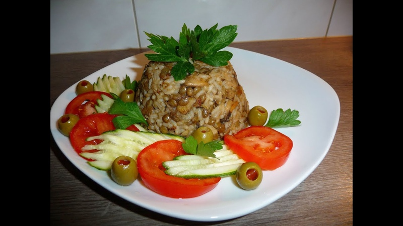 Вкусное ближневосточное блюдо МАДЖАДРА. Из чечевицы и риса