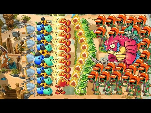 Plants vs Zombies 2 - Bowling Bulb and Fire Peashooter