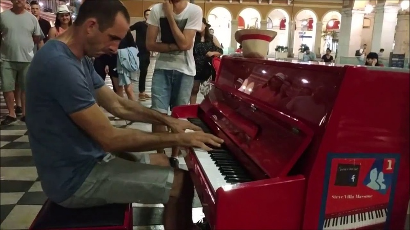 Street piano improvisation by Antoine Cesari Steve Villa-Massone