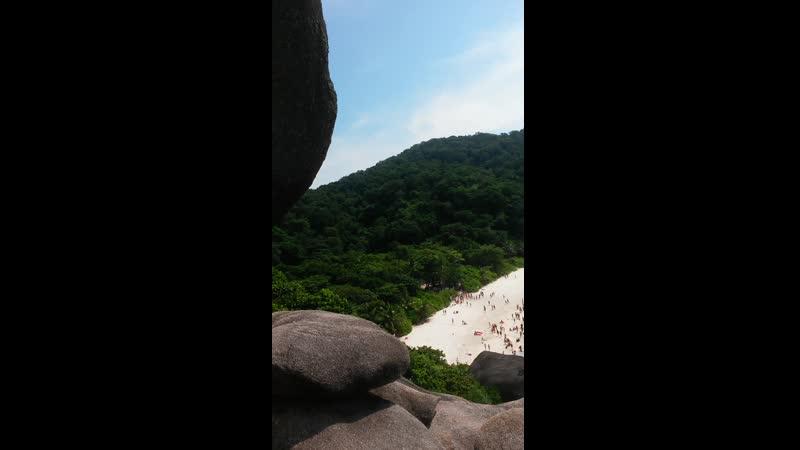 Вид со скалы Парус