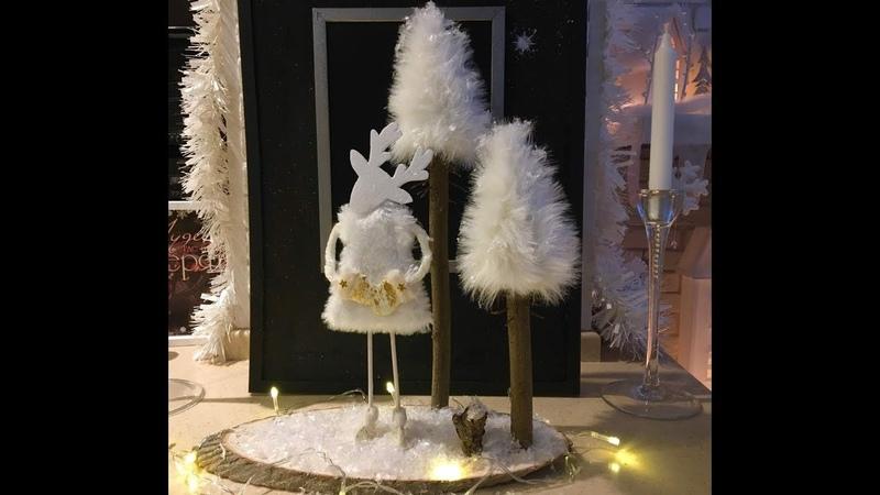 Новогодняя поделка Ёлочки и одинокая лосиха Christmas decor