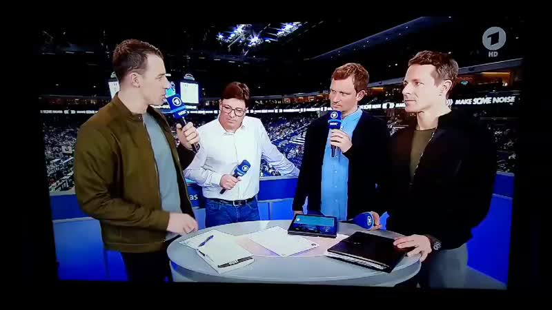 DNA from BTS got played in the background during an interview after the World Cup Handball