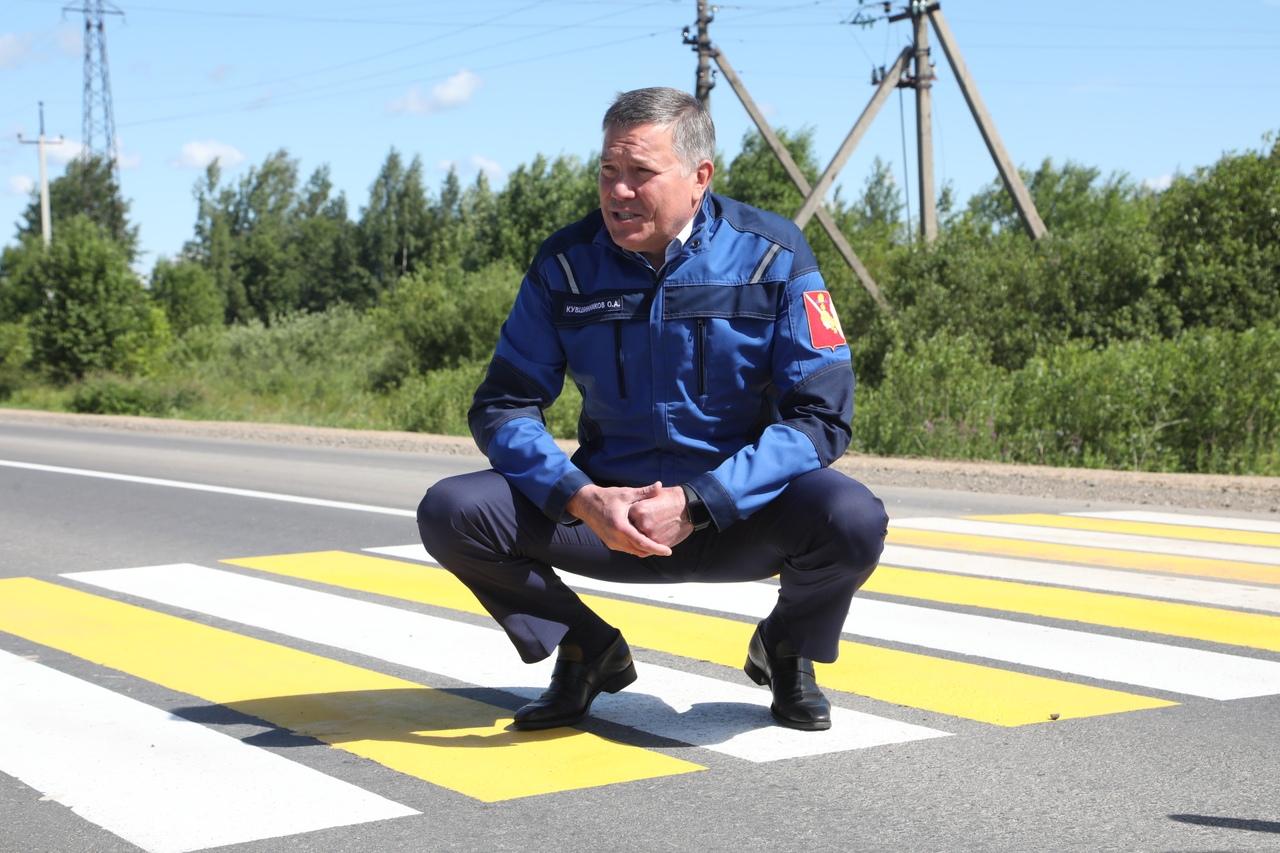Ремонт дороги Шексна-Сизьма закончился в Вологодской области