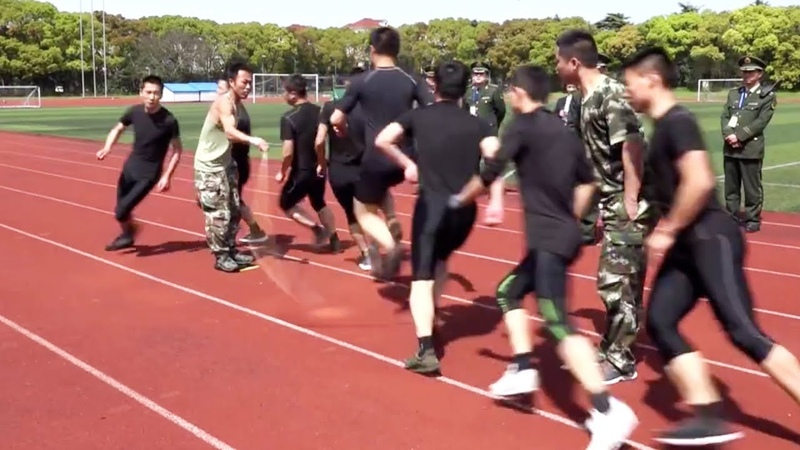 Chinese Firefighters Perform Amazing Skipping Rope Hack