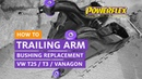 VW T3 T25 Vanagon Trailing Arm Bushing Replacement