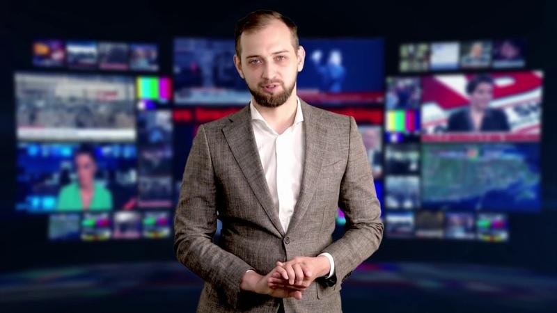 Сьемка зеленый фон, новостной формат
