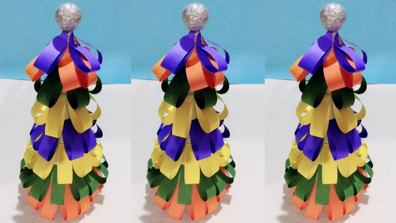 3D paper Christmas tree / DIY christmas tree / origami christmas tree / christmas 2018 /Creative Art