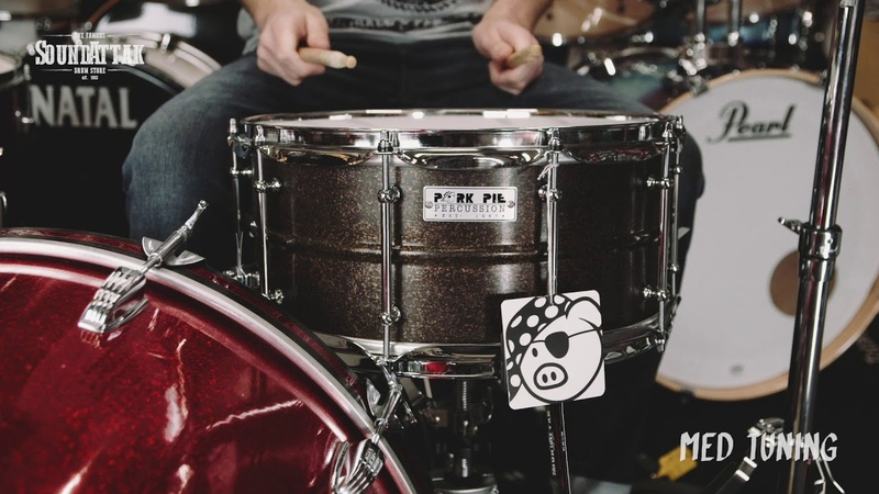 Pork Pie USA 14x6 5 Dark Patina Brass Snare Drum