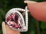 GIA Certified Vivid Pink Tourmaline &amp Diamond Cocktail Ring Solid 14K Gold Must Be Sold Immediately