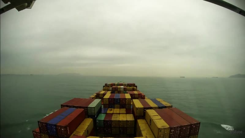 Time-lapse (100x) up the Pearl River Delta, arrival at Port of Nansha (China) [4K UHD, 60fps]
