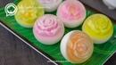 วุ้นกะทิดอกไม้ 3 มิติ ลูกบอลกลม   Flower Jelly Raindrop Cake