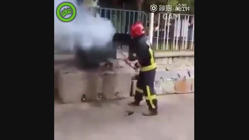 Когда нет огнетушителя под рукой