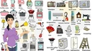 Household Appliances and Equipment Vocabulary in English Home Objects for Kids