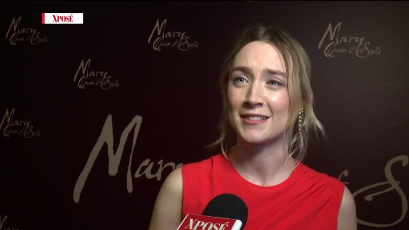 2019 ›› Интервью для «Xpose» во время премьеры «Двух королев» в Ирландии