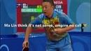 [2008 Beijing Olympics] Rd16 Ma Lin -Kreanga, (Ma Lin say dont cheat me with Net ball)